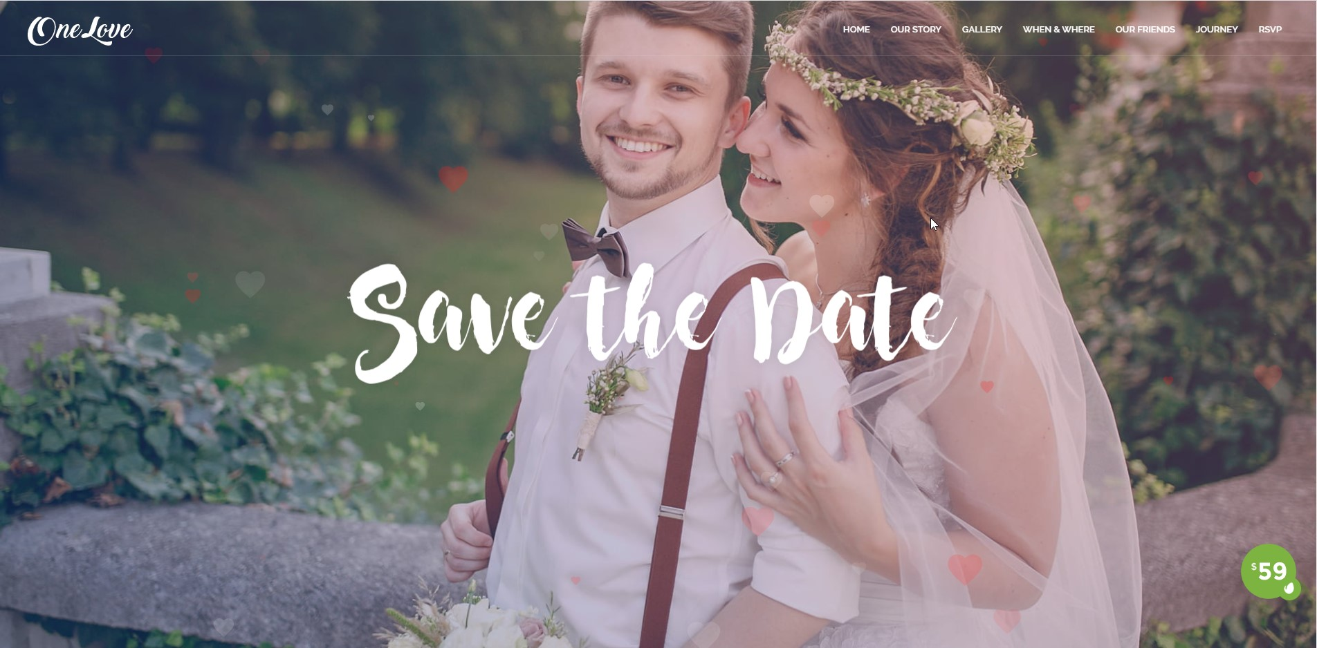 One Love - Multipurpose Wedding WordPress Theme