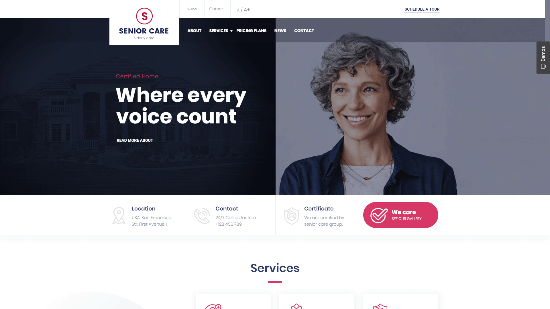 Senior | WordPress Theme for Health and Medical Care