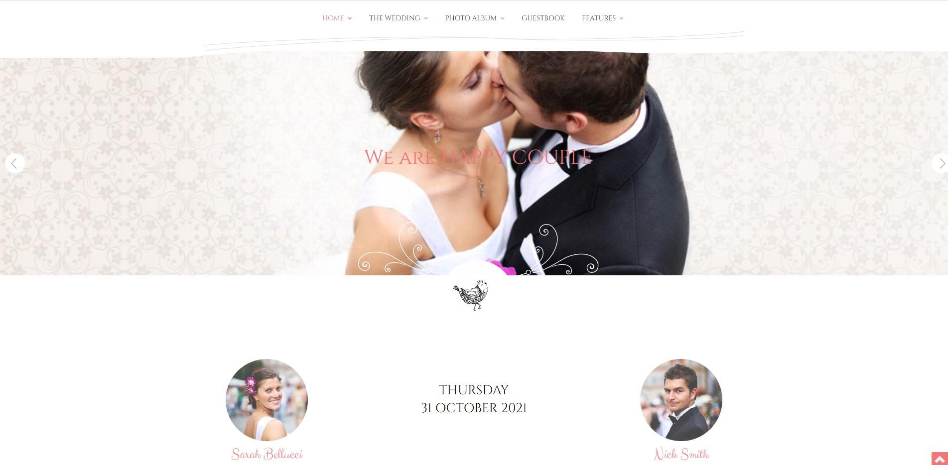 Wedding Day - Wedding WordPress Theme