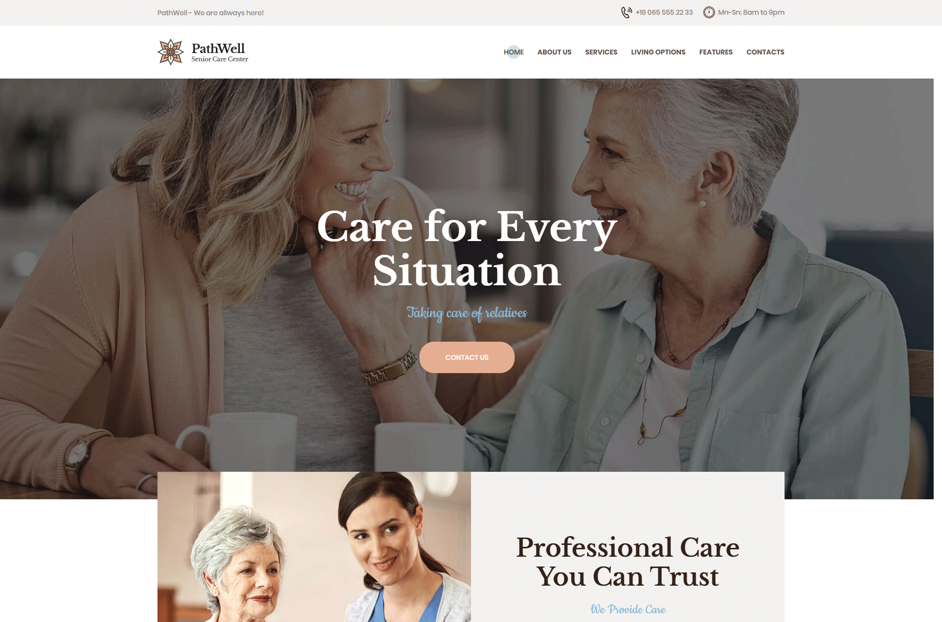 PathWell | A Senior Care Hospital WordPress Theme