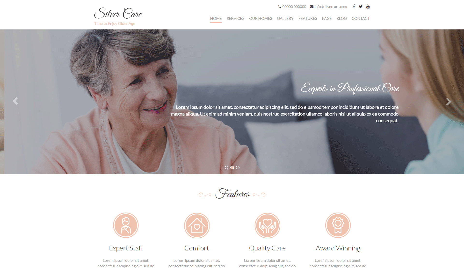 Silver Care - Medical WordPress Theme