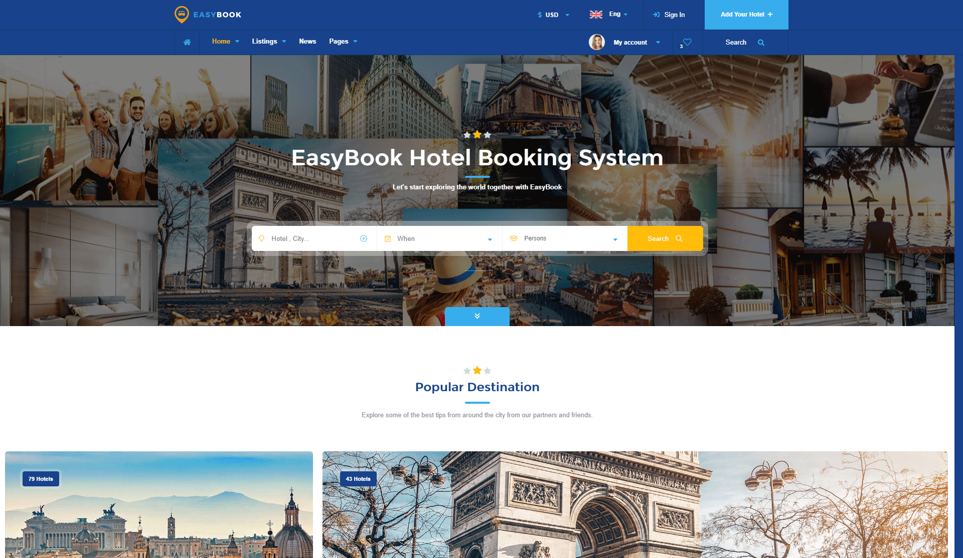 Easybook - Hotel Booking Directory Listing Template