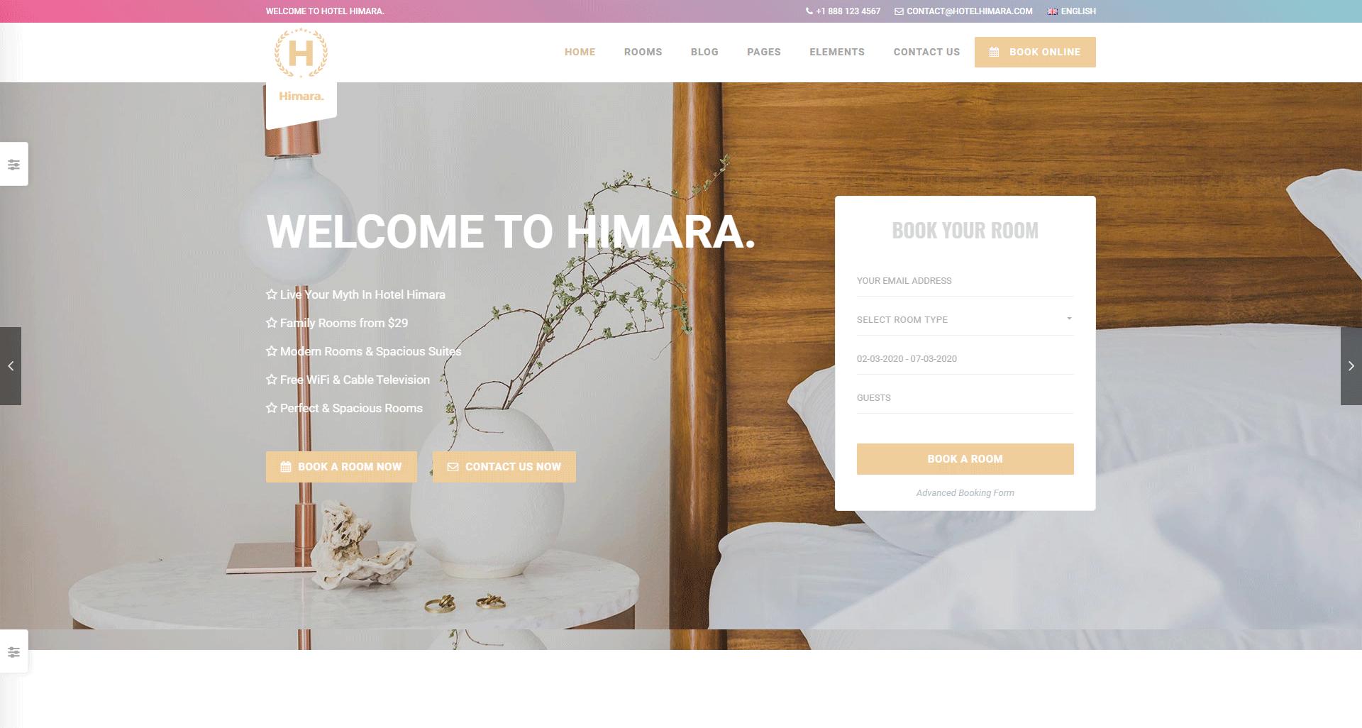 Himara Hotel Booking Template