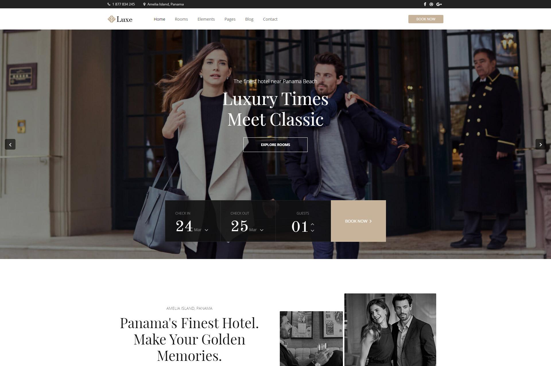 Hotel Luxe biggest hotel WordPress theme