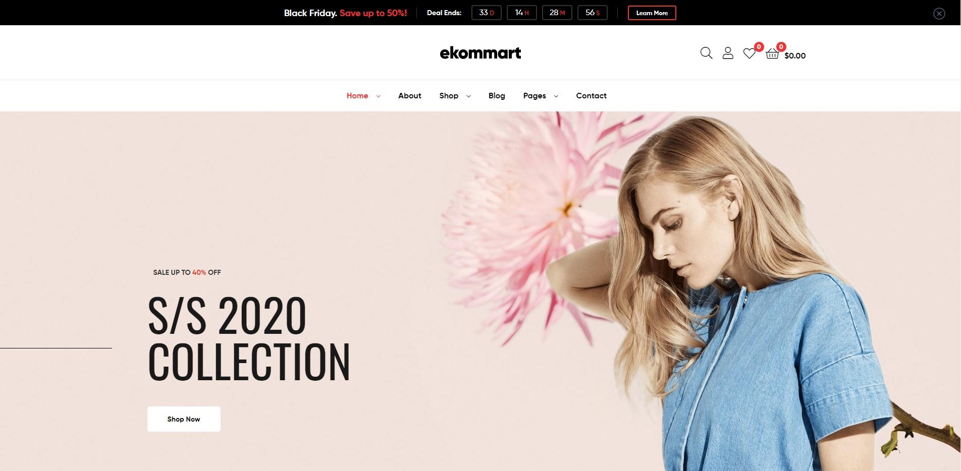 ekommart fashion demo