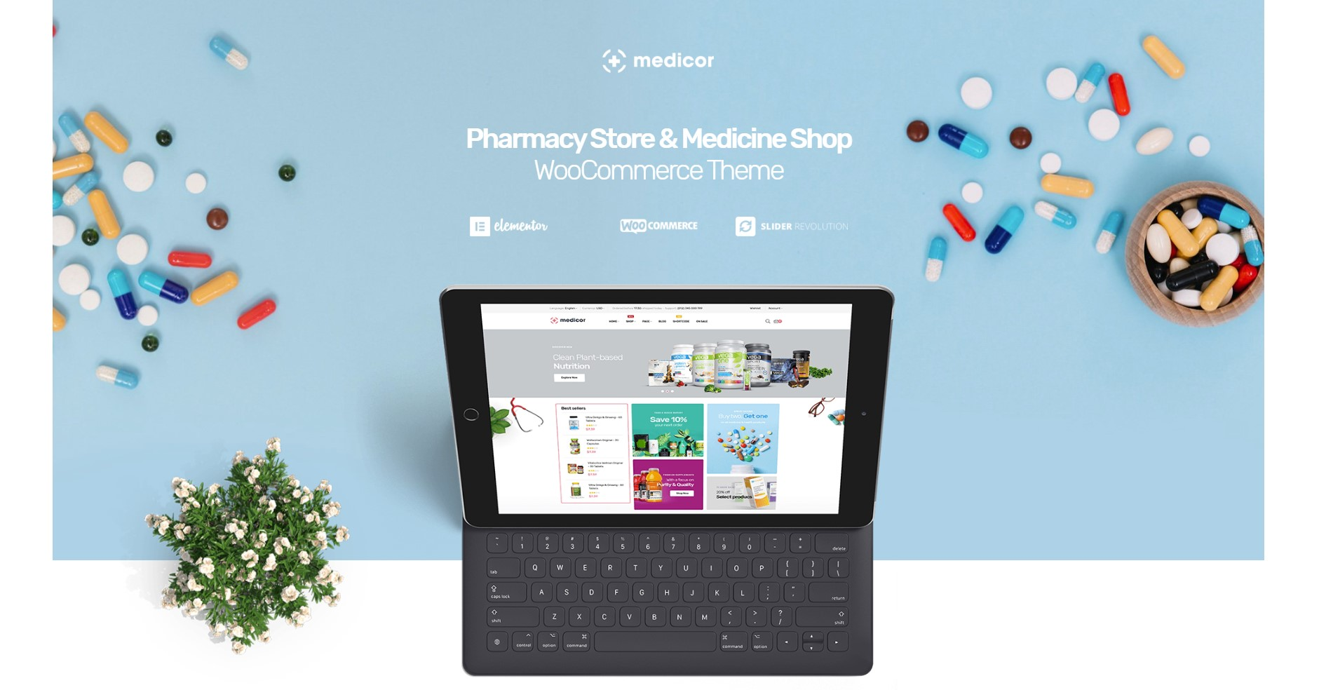 Medicor - Medicine & Pharmacy Store WordPress Theme