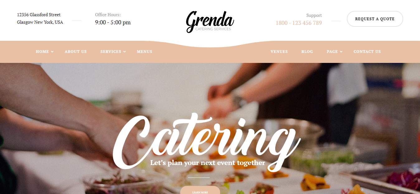 Grenda - Event WordPress Theme Sale
