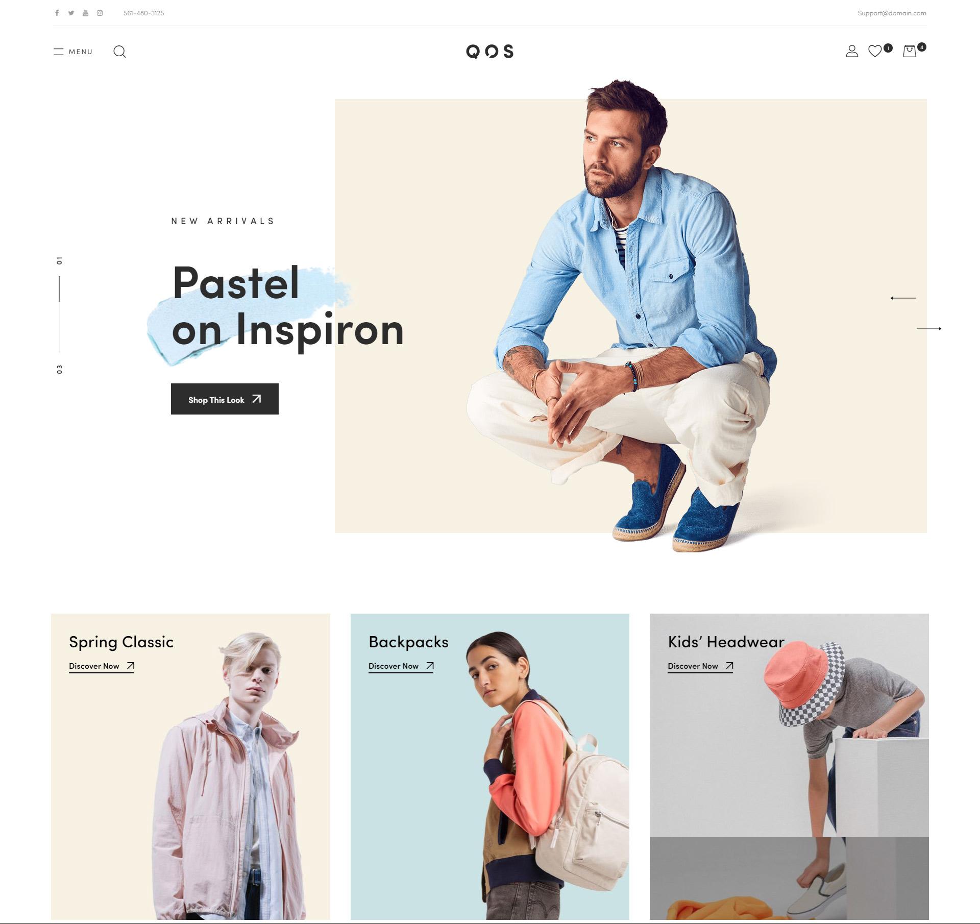 QOS fashion WooCommerce theme