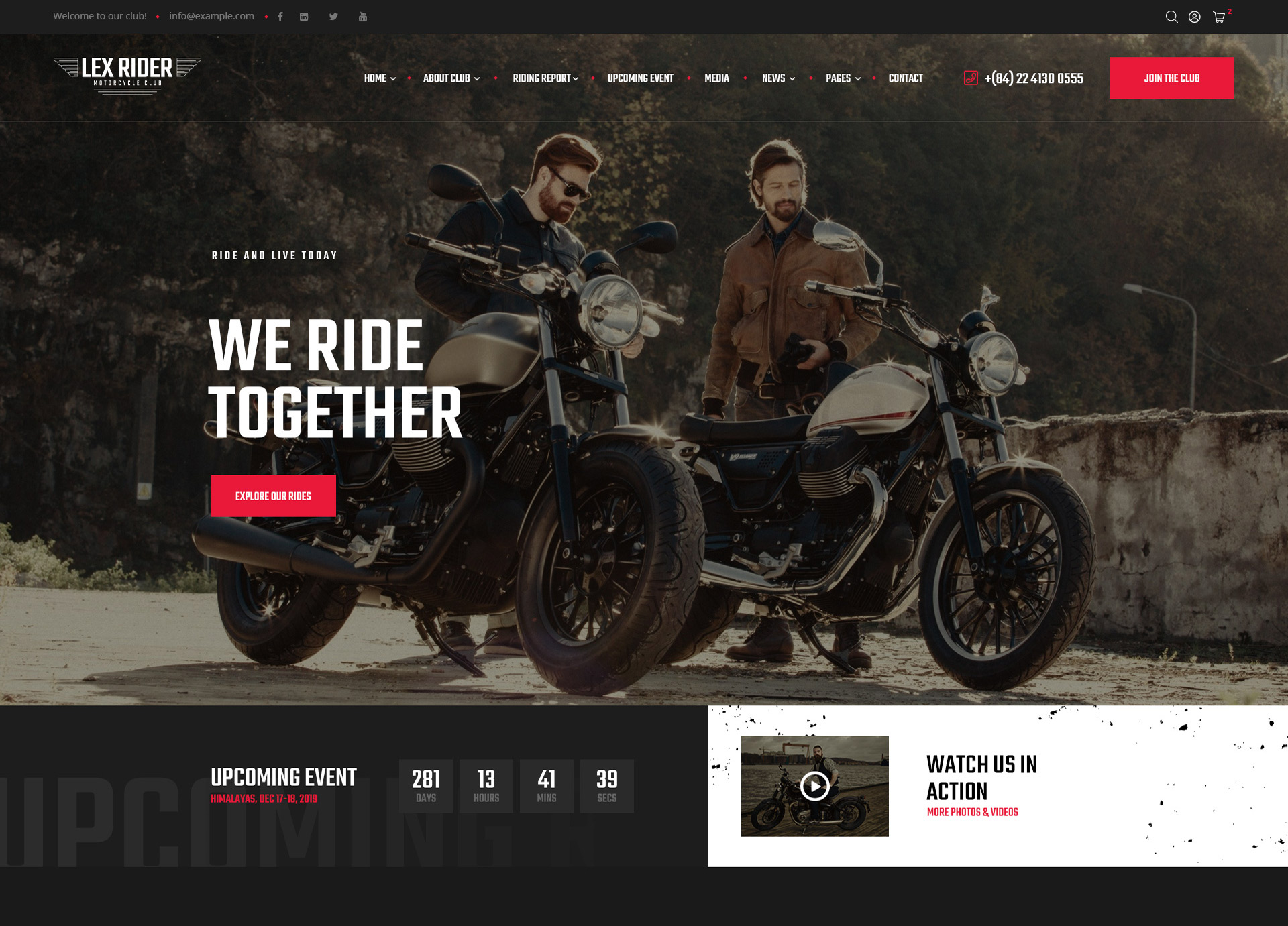 Lexrider-Motocycle-Club-WordPress-Theme