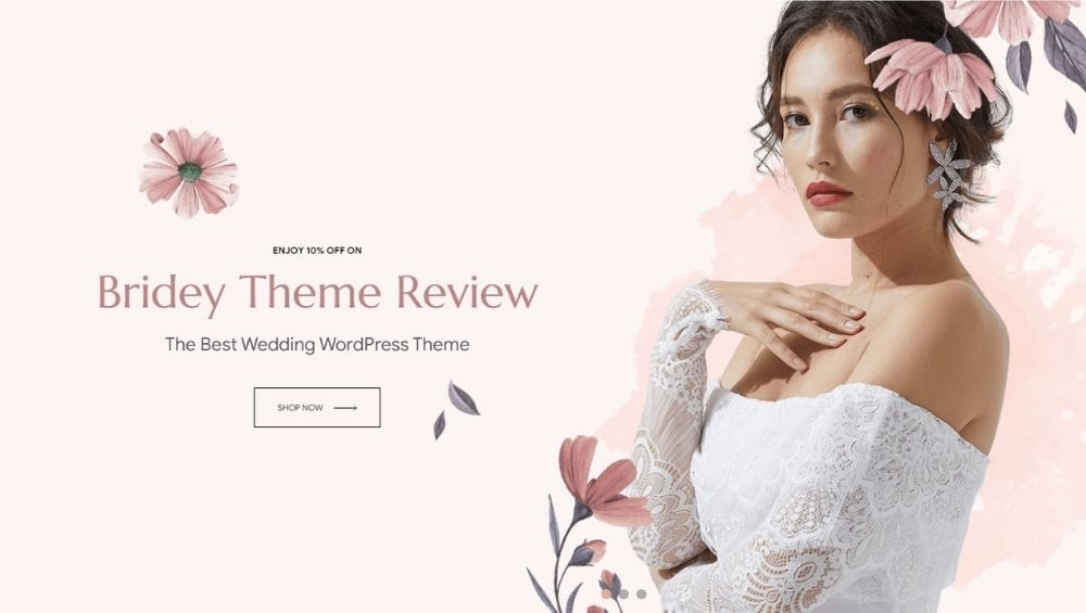 bridey theme review wedding wordpress theme