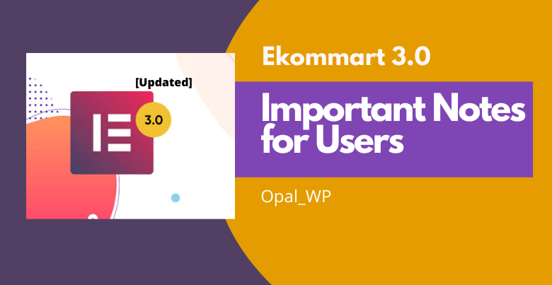 ekommart announcement for users