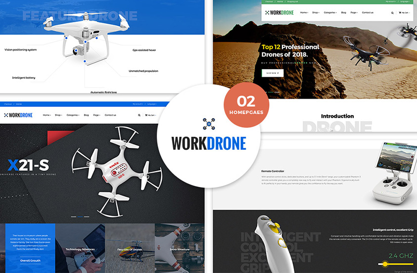 Drone-Single Product WordPress Theme