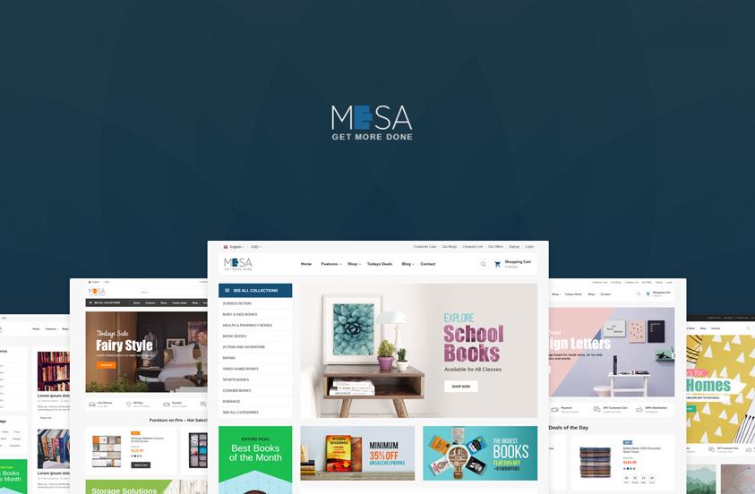 mesa wordpress books theme