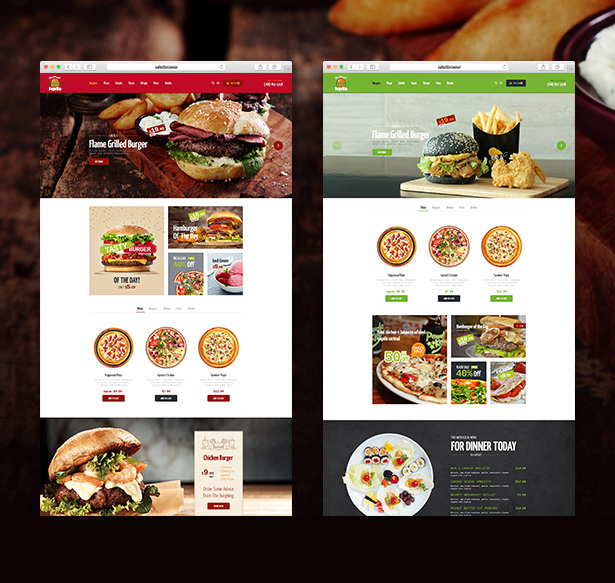2. Burger slap 02 restaurant homepages wordpress theme