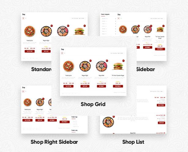 4. Shop restaurant layouts food restaurant WordPress Theme