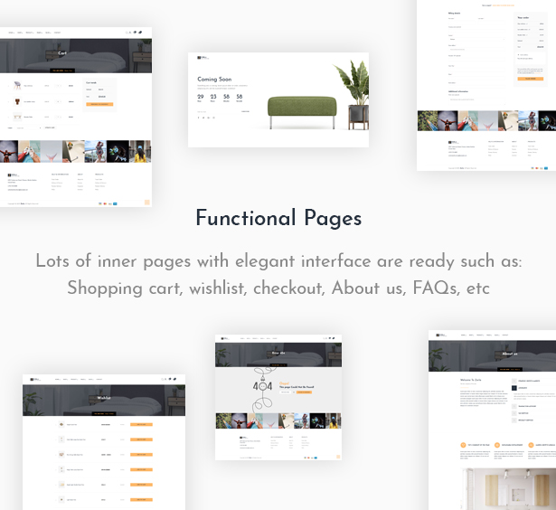 Awesome Functional Pages Furniture WooCommerce Theme