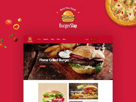 Burger Slap fast food restaurant WordPress theme