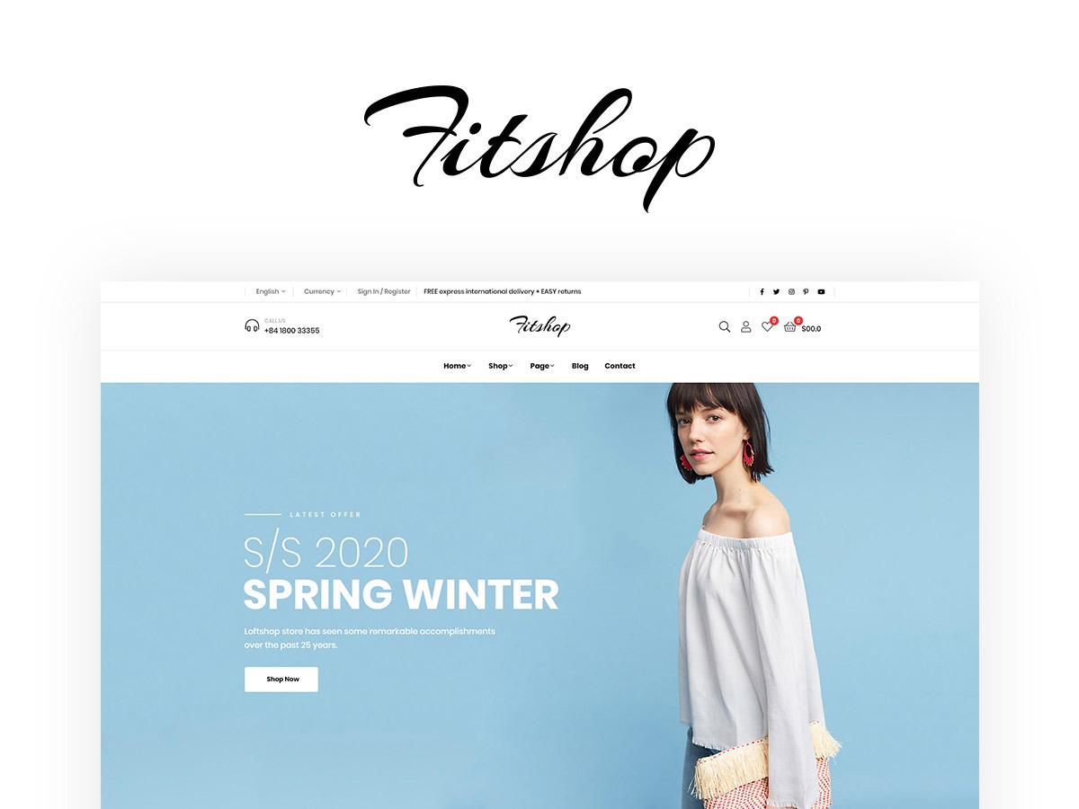 Fitshop Fashion Shop WordPress Theme
