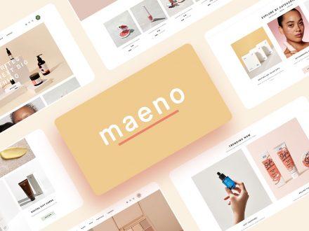 Maeno cosmetics shop WordPress Theme