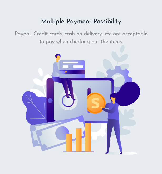 Multiple Payment Possibility For Furniture WooCommerce Theme Zorla