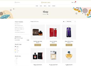 Perfumo - Perfume Shop WordPRess Theme - shop listing