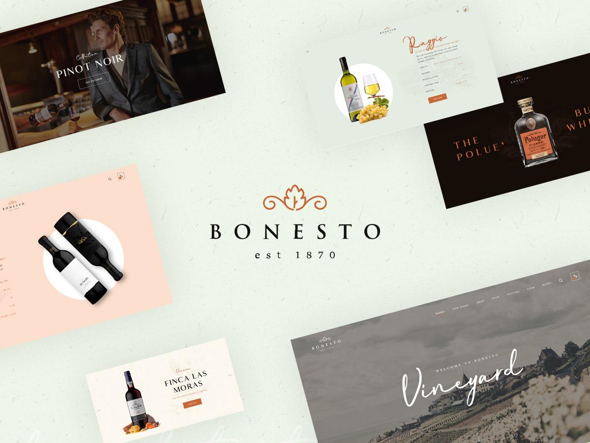 bonesto wine shop wordpress theme preview