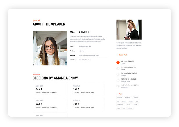 events-speaker-profile-events-wordpress-theme