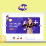 kidzo kindergarten school wordpress theme preview image