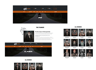 member crew page motorcycle club wordpress theme