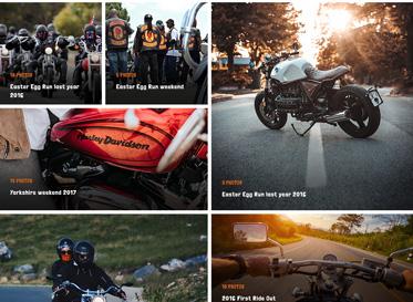 photo album wordpress theme for motorcyle club