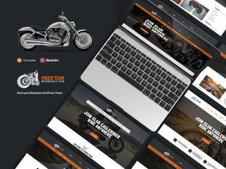 pikertour motorcycle wordpress theme preview image