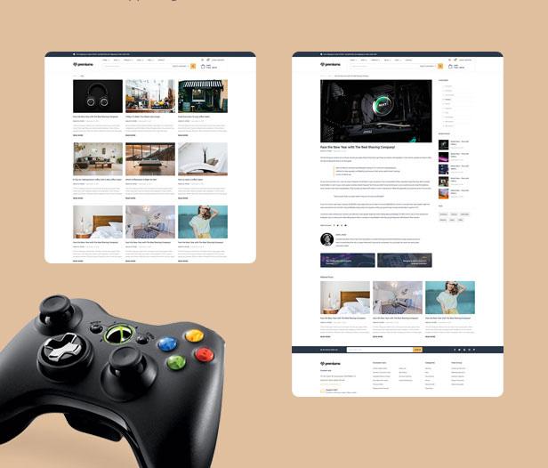 premiumo shopping wordpress theme blog layouts