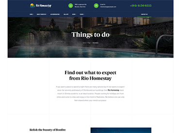 rio homestay activities for single property wp