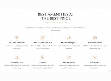 rio homestay amenities single property wordpress theme