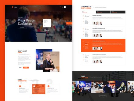 vetex events conference wordpress theme preview image