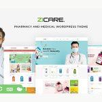 zicare medical wordpress theme preview image