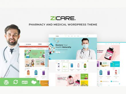 zicare medical wordpress theme preview image